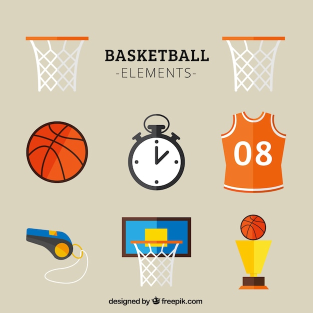 Basketball icons Free Vector