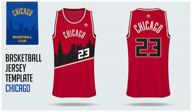 Basketball jersey mockup template design Premium Vector