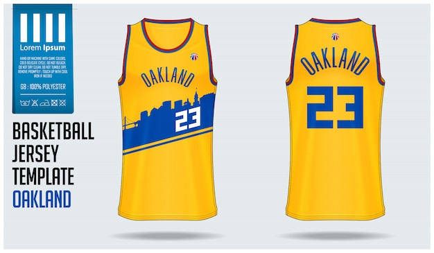 Premium Vector | Basketball jersey mockup template
