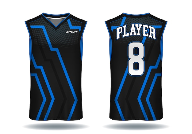 Basketball jersey, tank top sport illustration. Premium Vector