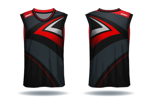 Basketball jersey, tank top sport illustration. Premium Vector