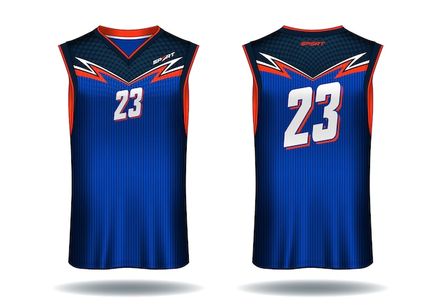 Basketball jersey Premium Vector