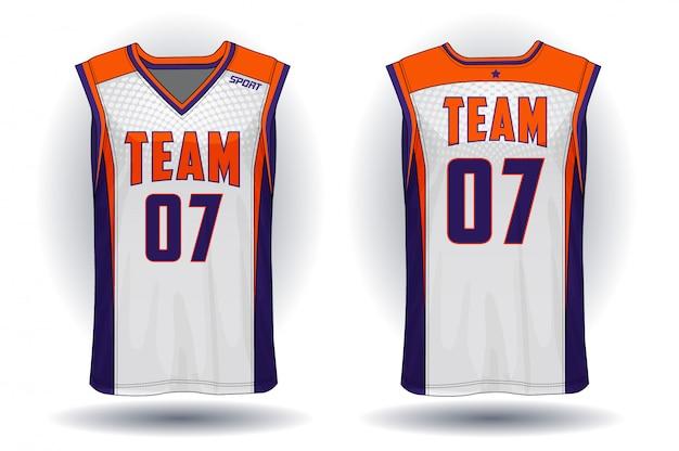 Basketball jersey Premium Vector