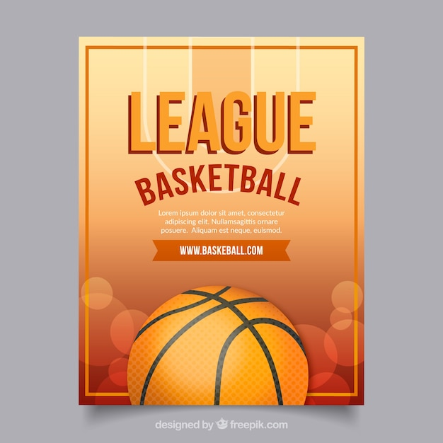 Basketball League Flyer Vector | Free Download