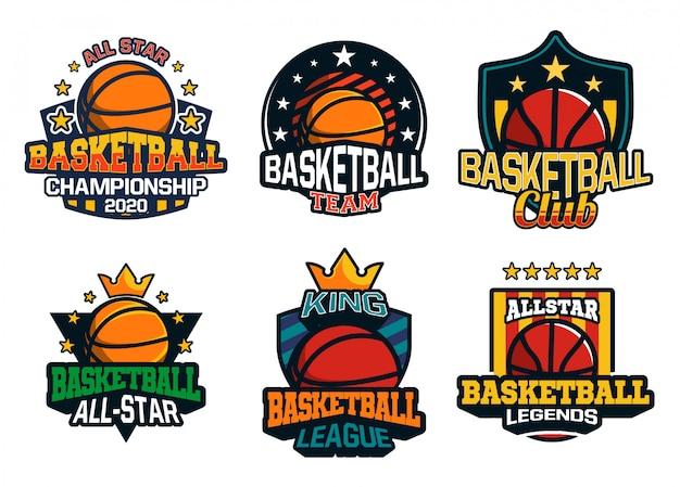 Basketball logo collection Premium Vector