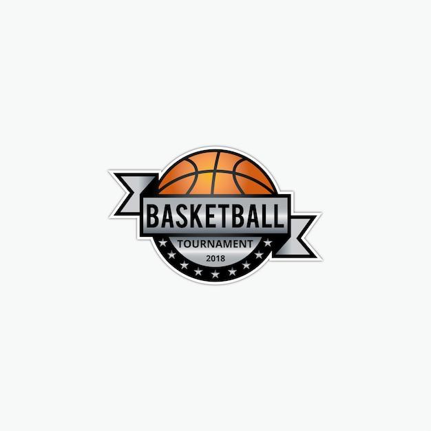 Basketball logo template Premium Vector