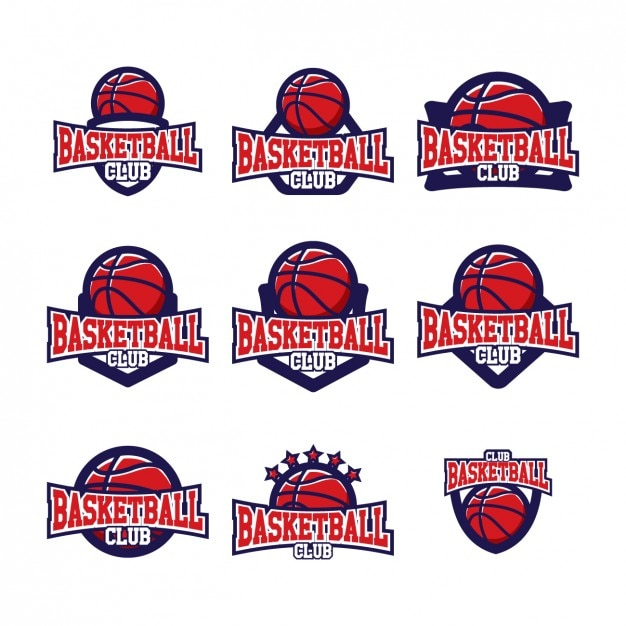 basketball logo templates design vector free download. Black Bedroom Furniture Sets. Home Design Ideas