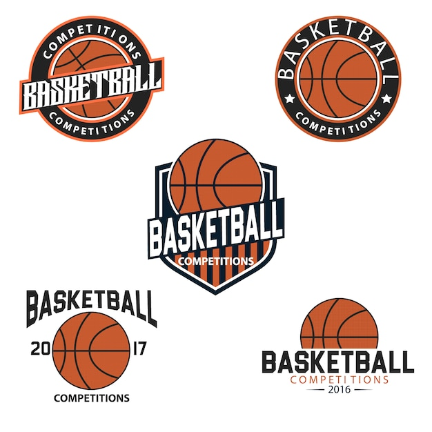 basketball logo templates vector free download