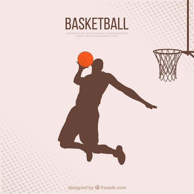 Basketball player background Free Vector
