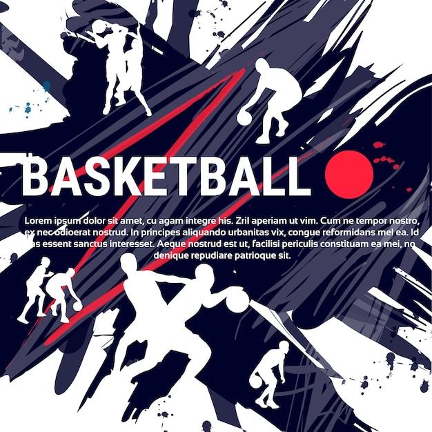 Баскетболисты Premium векторы