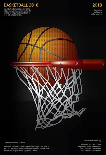 Basketball poster advertising vector illustration Premium Vector