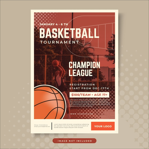 Basketball poster design Premium Vector