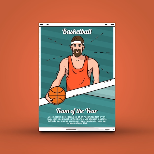 basketball poster template vector free download
