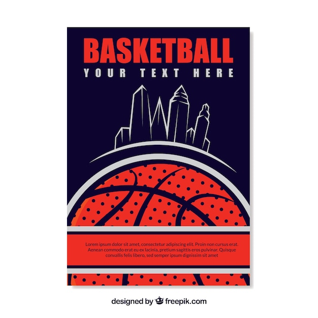 Basketball retro brochure