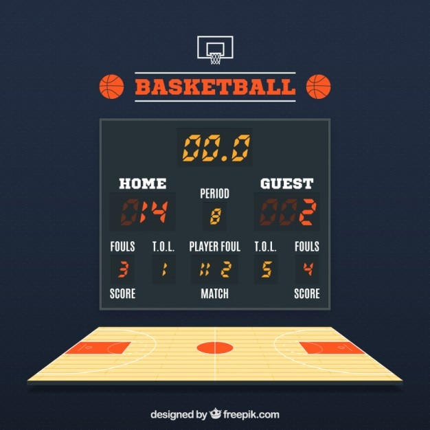 Basketball Scoreboard Vector | Premium Download