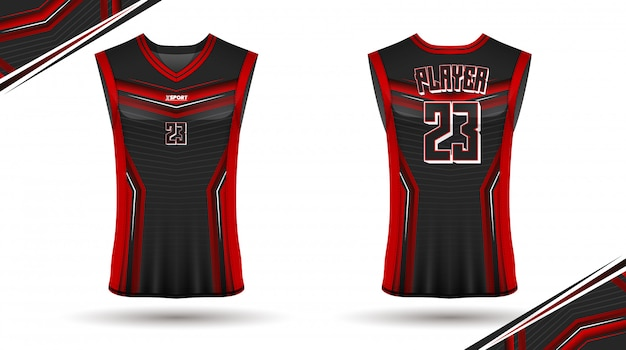Basketball shirt design, front and back Premium Vector