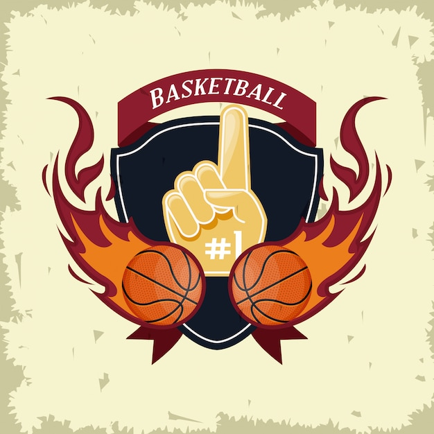 Basketball sport game card Free Vector