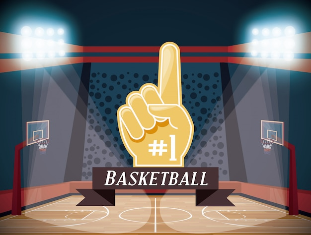 Basketball sport game Free Vector