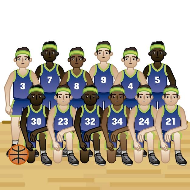 Basketball team background