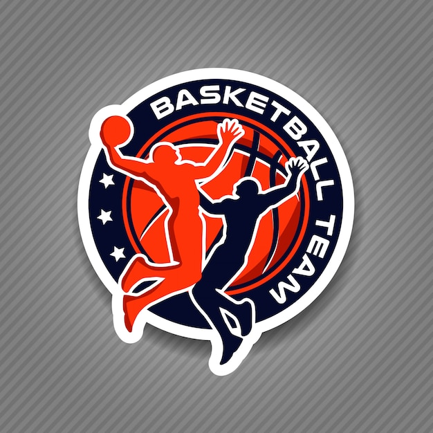 Basketball team logo tournament championship Premium Vector