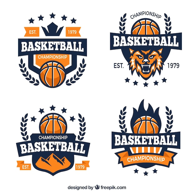 basketball team logos vector free download