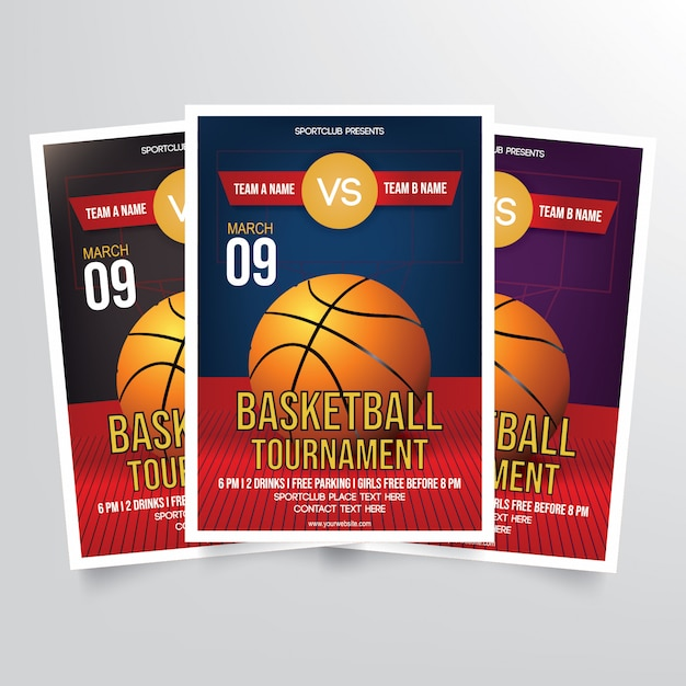 basketball tournament flyer template vector premium download