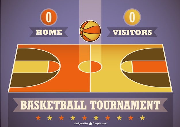 Basketball tournament template Vector | Free Download