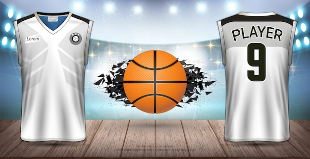 Basketball uniform & jersey design. Premium Vector