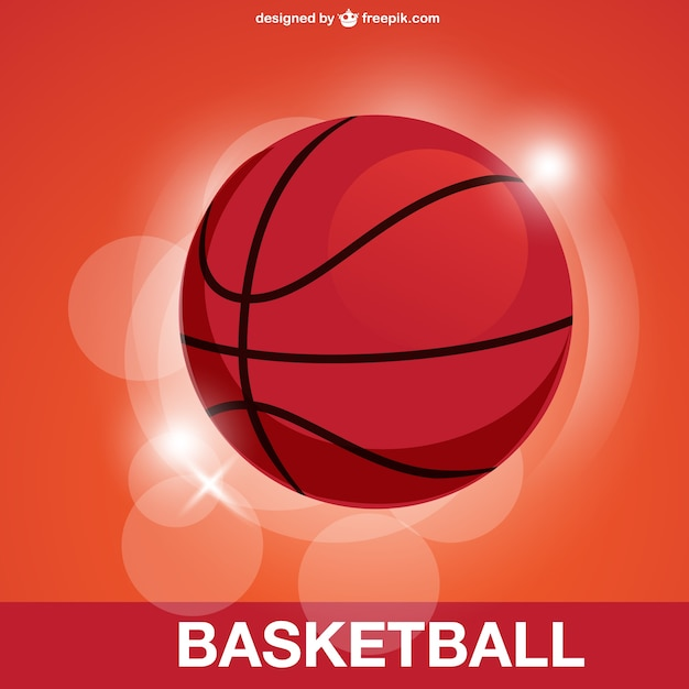 Basketball with bokeh effect