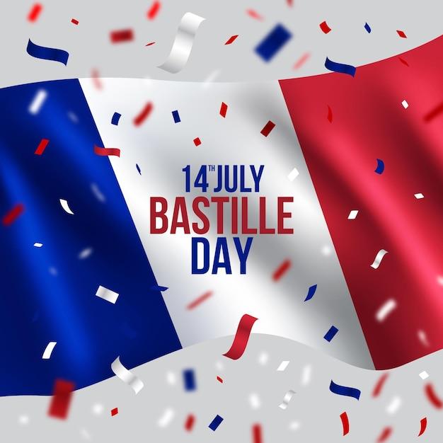 Bastille day celebration Free Vector
