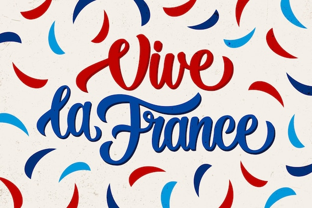 Bastille day concept lettering Free Vector