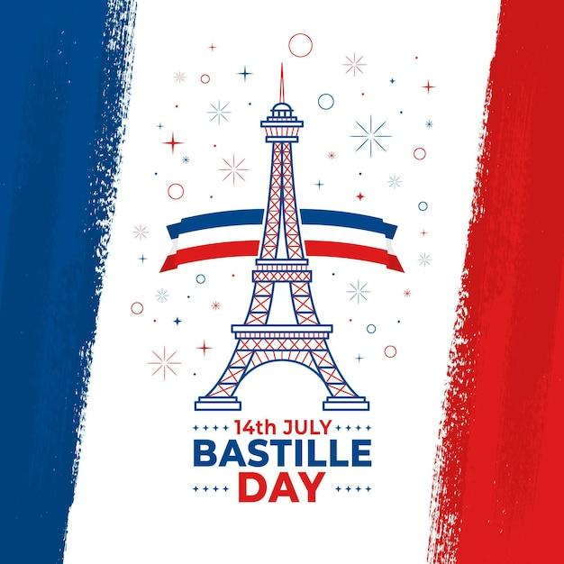Bastille day design Free Vector