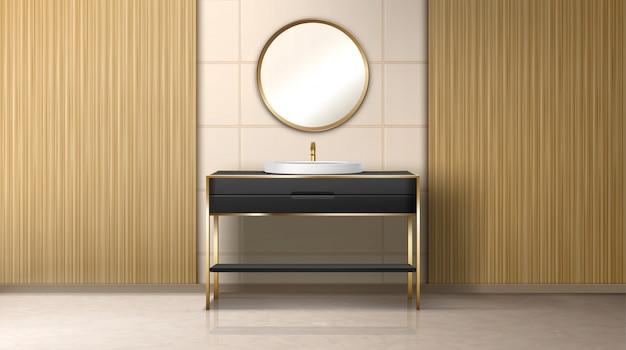Ванная комната бойлер водонагреватель умывальник и ванна Бесплатные векторы