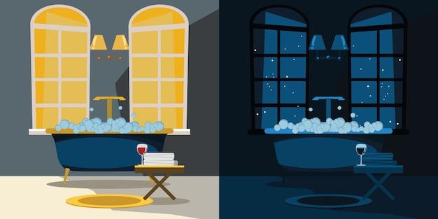 Bathroom interior vector illustration Premium Vector