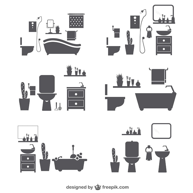 Marvelous Bathroom Vectors Photos And Psd Files Free Download Largest Home Design Picture Inspirations Pitcheantrous
