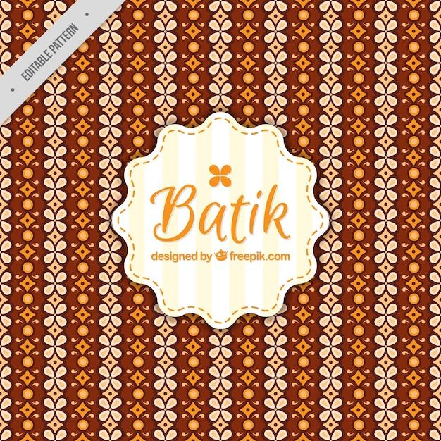 Batik Decorative Floral Pattern Vector