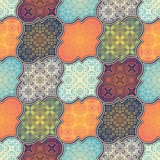 Batik Floral Pattern Vector