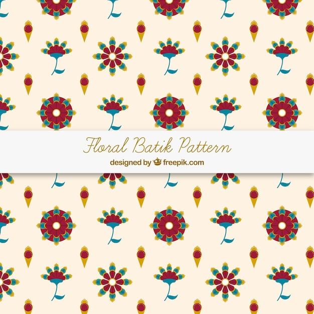 Batik Flowers Pattern Vector