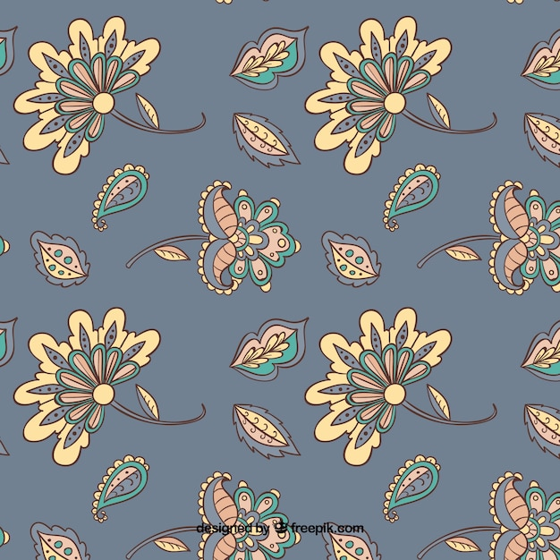 Batik imitation background in grey Vector | Free Download