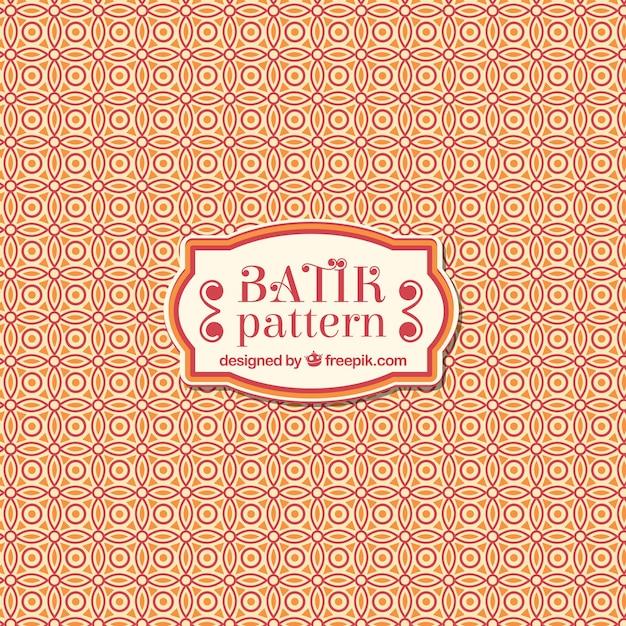 Batik ornamental pattern Free Vector