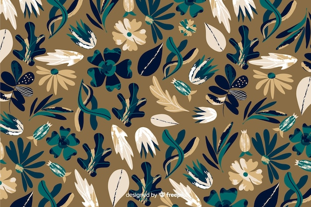 Batik pattern for floral background Free Vector