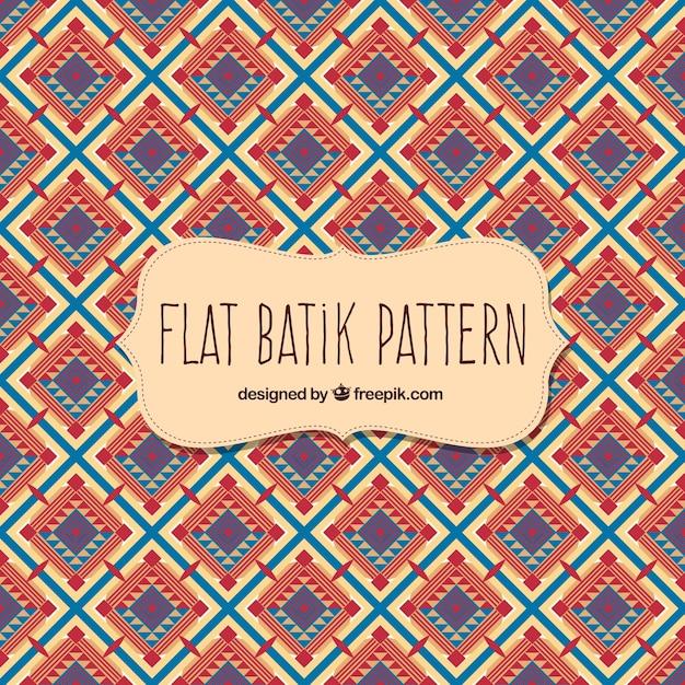 Batik Pattern In Flat Design Vector