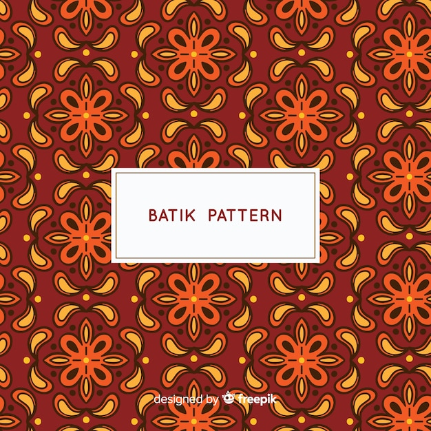 Batik Pattern Template Vector