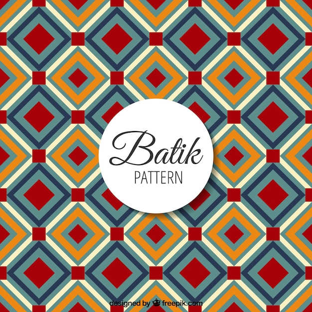 Batik Pattern With Geometric Shapes
