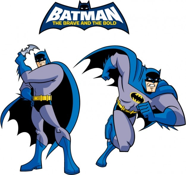 Batman Classic Style Cartoon Logo Vector Vector