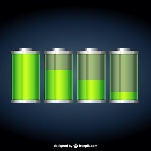 Batteries Premium Vector