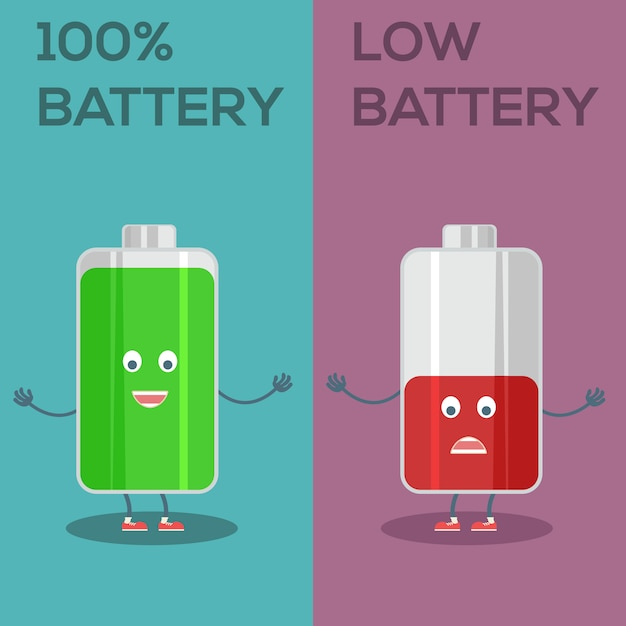 Battery background design Free Vector