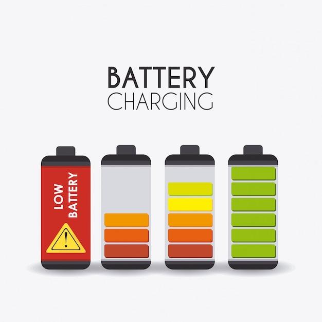 Battery design. Premium Vector