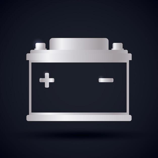 Battery energy design. Premium Vector