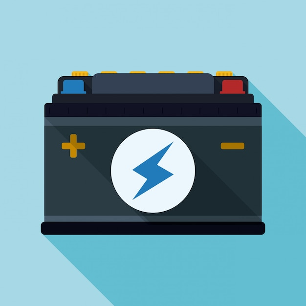 Battery energy design. Premium Vector